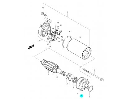 [4] Kryt (startér) - Hyosung GV 250