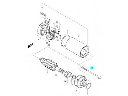 [6] Šroub (startér) - Hyosung GV 250