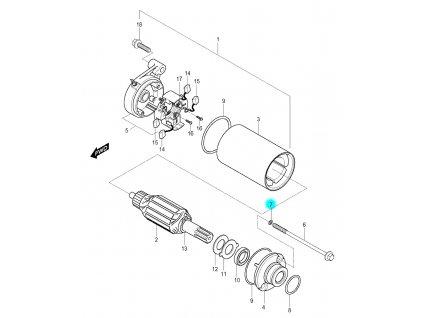 [7] Těsnící O-kroužek (startér) - Hyosung GV 250