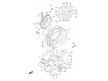 [20] Šroubová zátka (FIG05) - Hyosung GT 650 N