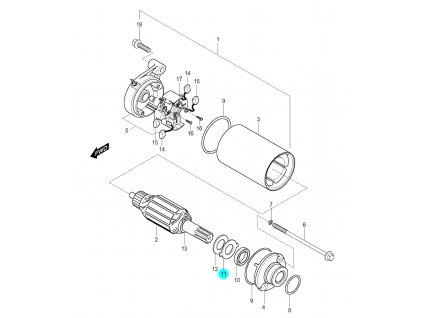[11] Destička jistící (startér) - Hyosung GV 250
