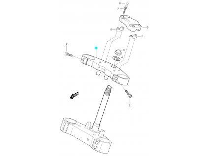 [1] Brýle horní (horní brýle tyče řízení) - Hyosung GT 650 S & R