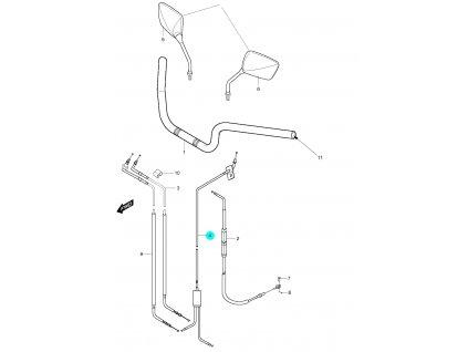 [4] Lanko sytiče kompletní (řídítka, zrcátka & bowdeny) - Hyosung GT 650 S & R