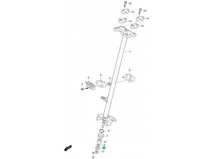 [10] Podložka (FIG46) - Hyosung 450 Sport