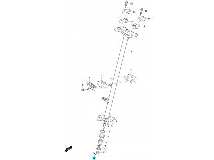 [12] Závlačka pojistná (FIG46) - Hyosung 450 Sport