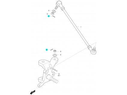 [4] Závlačka pojistná (táhlo řízení a čep nápravy) - Hyosung 450 Sport