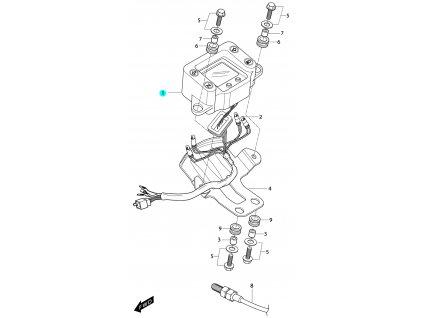 [1] Tachometr kompletní (FIG21) - Hyosung RT 125 D E3