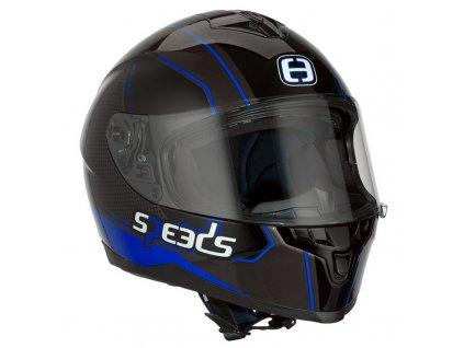 Helma SPEEDS RACE II Grafik / titanová-modrá