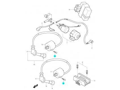 [8] Šroub (elektrické jednotky) - Hyosung GV 250