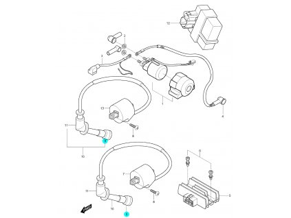 [9] Krytka gumová (FIG20) - Hyosung GV 250