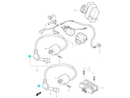 [11] Krytka gumová (elektrické jednotky) - Hyosung GV 250