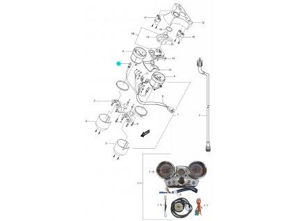 [10] Žárovka (12V 1,7W) (tachometr / otáčkoměr) - Hyosung GV 250