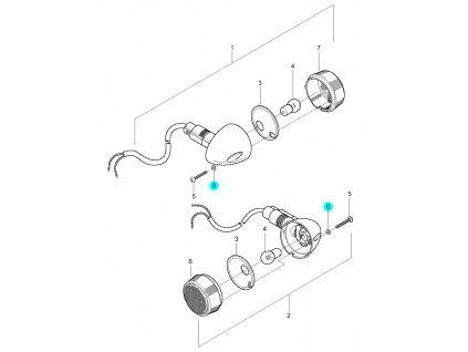 [6] Podložka plastová (ukazatel směru přední) - Hyosung GV 250