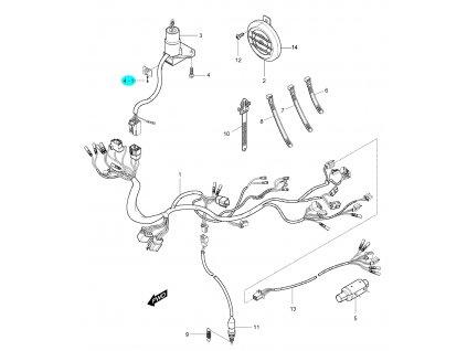 [4-1] Šroub (elektroinstalace) - Hyosung GV 250