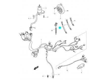 [8] Páska stahovací (elektroinstalace) - Hyosung GV 250
