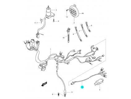 [13] Kabelový svazek (FIG25) - Hyosung GV 250