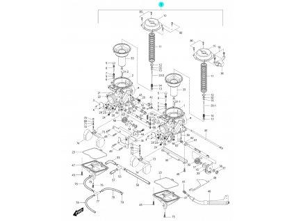 [0] Karburátory kompletní / sada (FIG10) - Hyosung GV 250