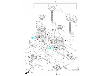 [4] Šroub (karburátor) - Hyosung GV 250