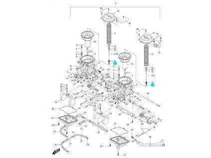 [13] Sedlo pružiny (karburátor) - Hyosung GV 250