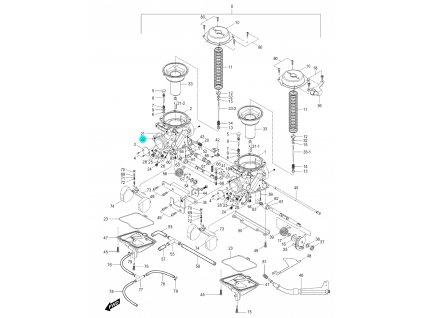 [22] Hřídel (karburátor) - Hyosung GV 250