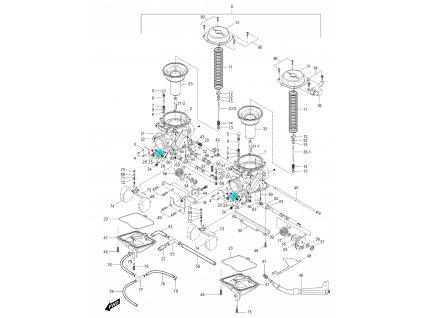 [30] Tryska 13334HJ8200 (karburátor) - Hyosung GV 250