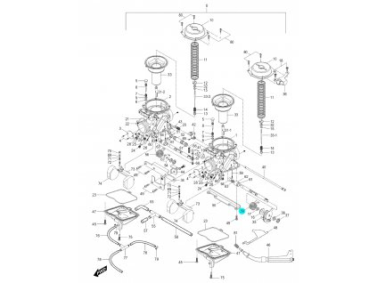 [39] Pružina (karburátor) - Hyosung GV 250