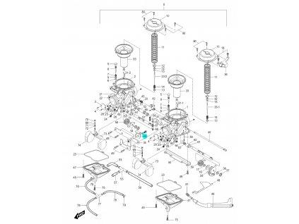 [44] Držák (karburátor) - Hyosung GV 250