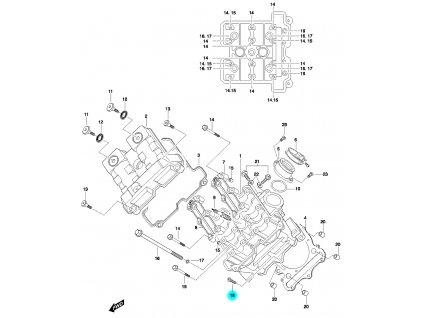 [18] Šroub (hlava předního válce) - Hyosung GT 650 N