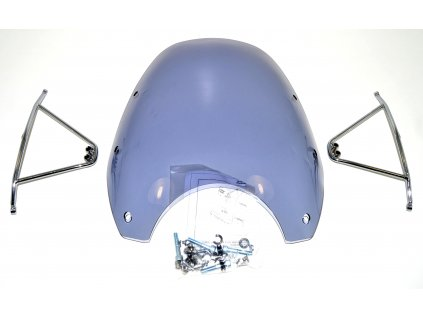 Větrný štít - modrošedý (Hyosung GV 650 / Hyosung GV 650i / Hyosung GV 650i P)