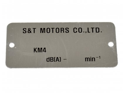 [neni na obr.] Výrobní štítek pro vyražení VIN (FIG26) - GF 125
