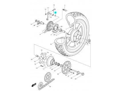 [8] Těsnící O-kroužek (FIG47) - Hyosung GV 250