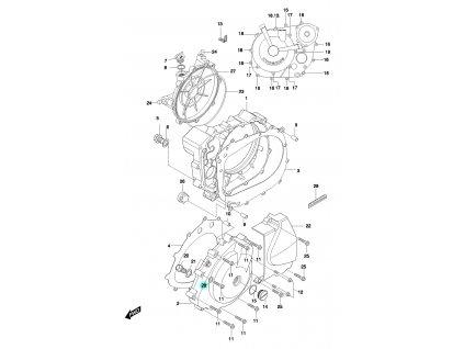 [28] Těsnění (FIG05) - Hyosung GT 650 N