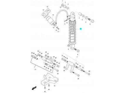 [1] Zadní tlumič kompletní (FIG53) - Hyosung 450 Sport