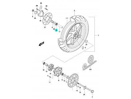 [19] Ložisko (FIG51) - Hyosung GT 650 N