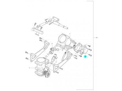 [3] Snímač polohy klapky / potenciometr (FIG10) - Hyosung GV 650 Fi & LE30
