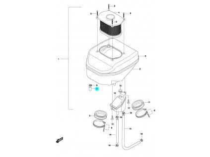 [7] Zátka (vzduchový filtr) - Hyosung GT 650 N
