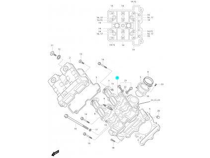 [1] Hlava válce (hlava předního válce) - Hyosung GT 650i N