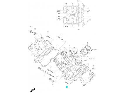 [18] Šroub (FIG01a) - Hyosung GT 650i N