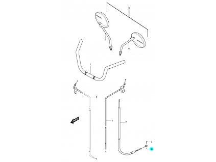 [8] Závlačka pojistná (řídítka, zrcátka a bowdeny) - Hyosung GV 250