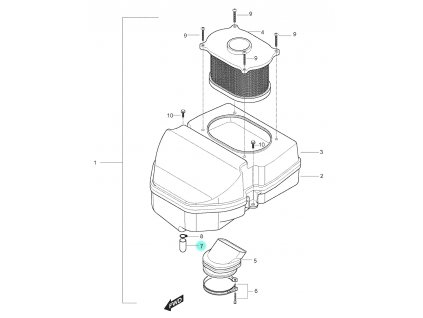 [7] Zátka (vzduchový filtr) - Hyosung GT 250 N