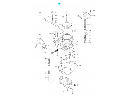 [0] Karburátor kompletní (karburátor) - Hyosung GPS 125 Hyper / Grand Prix