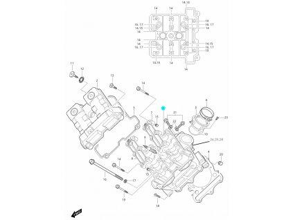 [1] Hlava válce (FIG01v) - Hyosung GT 650i P (FI Delphi)