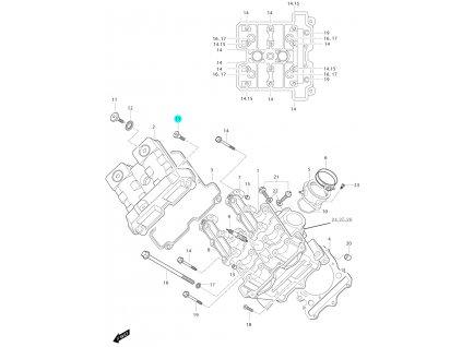 [13] Šroub (FIG01v) - Hyosung GT 650i P (FI Delphi)