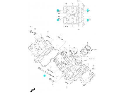 [16] Šroub (FIG01v) - Hyosung GT 650i P (FI Delphi)