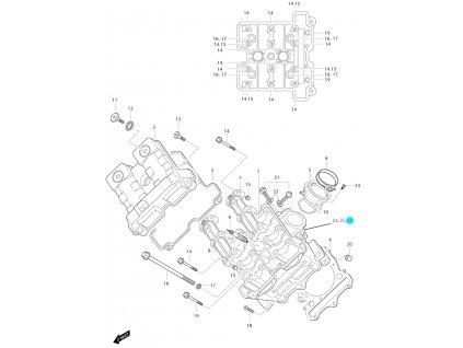 [26] Šroub (FIG01v) - Hyosung GT 650i P (FI Delphi)