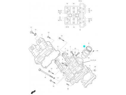 [5] Příruba sání (FIG01v) - Hyosung GT 650i P (FI Delphi)