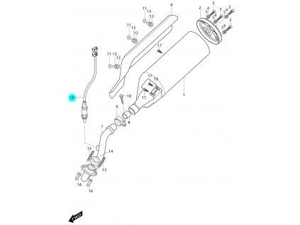 [18/b] Lambda sonda (FIG12) - Hyosung MS3 250i