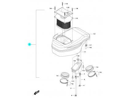 [1] Vzduchový filtr kompletní (vzduchový filtr) - Hyosung GV 650