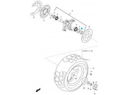 [3] Pouzdro (FIG48) - Hyosung 450 Sport