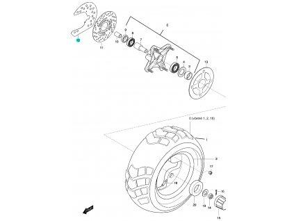 [12] Kryt brzdového kotouče (FIG48) - Hyosung 450 Sport
